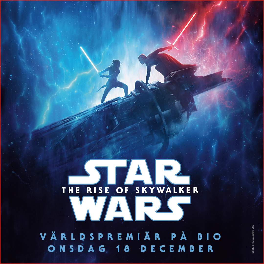 Affisch för STAR WARS: The Rise of Skywalker på Bio i Kiruna på Kiruna Folkets Hus